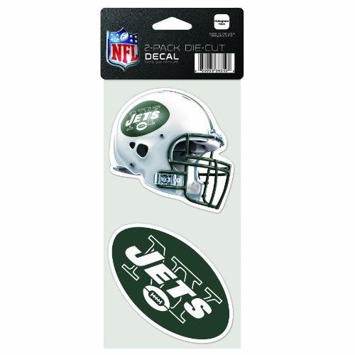 Wincraft NFL 2-teiliger gestanzter Aufkleber, 10,2 x 20,3 cm, New York Jets