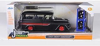 1957 Chevrolet Suburban Matt Black / Red