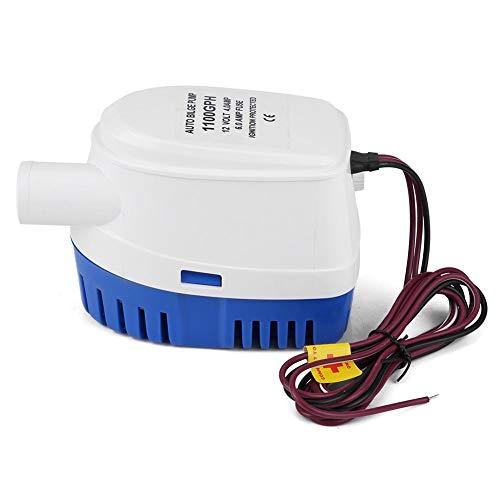 Pompe de cale automatique 1100 GPH 12V, pompe de cale 12v automatique, pompe de cale pompe de cale de bateau, pompe de cale submersible, avec mécanisme de protection d'allumage, pour eaux usées