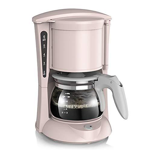 LYGACX Filterkaffeemaschine, 600-W-Kaffeemaschine für Instantkaffee, Espresso, Anti-Tropf-Funktion, Filterkaffeemaschine, 0,65 Liter,Rosa