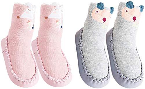 YUHUAWYH Bebé Muchachos Chicas Invierno Calzado Antideslizante Calcetines Zapatos niños Interiores pequeños...