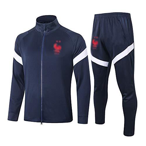 HIAO Camiseta del Club Europeo Entrenamiento de fútbol Traje Club de jóvenes Adultos de Manga Larga con Capucha de la Chaqueta Transpirable Jogging Plus Traje de Pantalones LQ0099 A00201 (Size : XL)