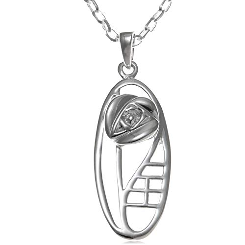 Sterling Silver Charles Rennie Mackintosh Pendant Necklace With 18' Chain