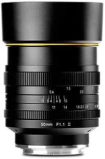 Kamlan 50mm F/1.1 II Micro Single Lens Head for Sony E