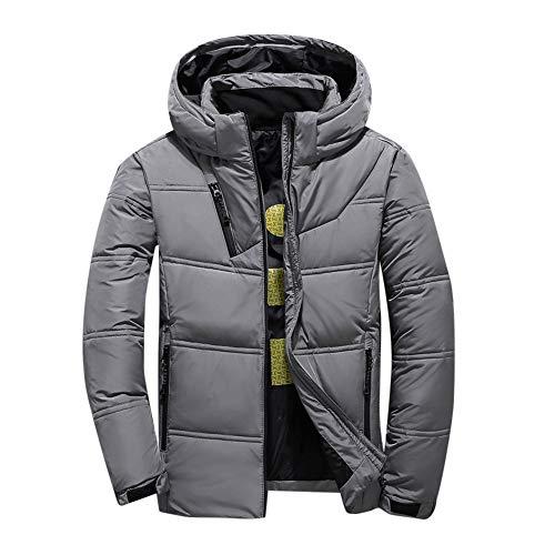 Celucke Herren Winterjacke Mode Warme Steppjacke mit Kapuze,Männer Winterparka Daunenparka Casual Kapuzenjacke Wattierte Jacke