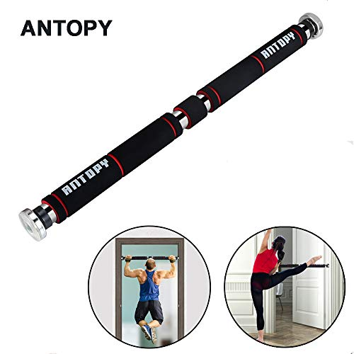 Pull-Up Bar Chin-Up Stretch Bar Gym Fitness Strength Training Made of Sturdy Steel with Max Loading Weight 330lbs/150Kg Adjustable to Doors with a Width of 65-100cm