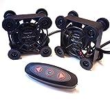 Easycargo 2 Pack 40 mm USB ventilador silencio, ventilador USB Mini 4010 DC 5 V ventilador para VR equipo, Acuario, Roku, Router, Raspberry pi, Casco enfriamiento ventilación