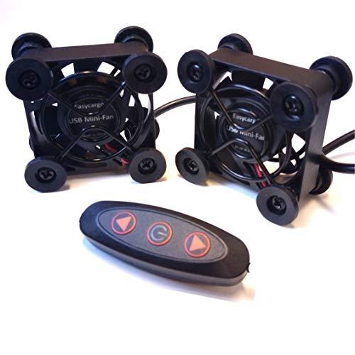 Easycargo 2-Pack 40mm USB-Lüfter, USB-Mini-Lüfter 4010 DC 5V Lüfter zum Kühlen VR-Ausrüstung, Aquarium, Roku, Router, Raspberry Pi, Helmkühlung Belüftung