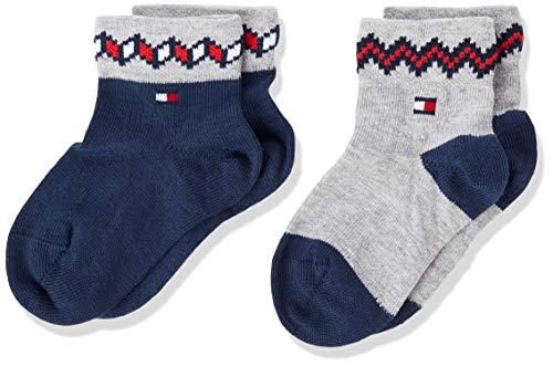Tommy Hilfiger Th Baby Sock 2p Fairisle calcetines, tommy original, 15-18 (Pack de 2) para Bebés