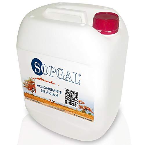 Aglomerante de Áridos - Sopgal (25 litros): resina fijadora de piedras, gravilla o molienda de...