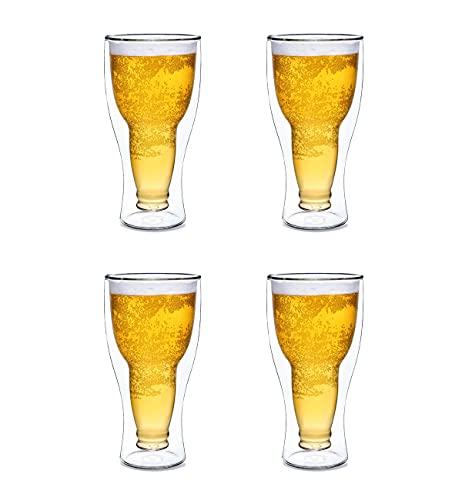 DinQ Caneca de cerveja invertida de camada dupla isolada 340 g, presente divertido para pai homem no aniversário (4)