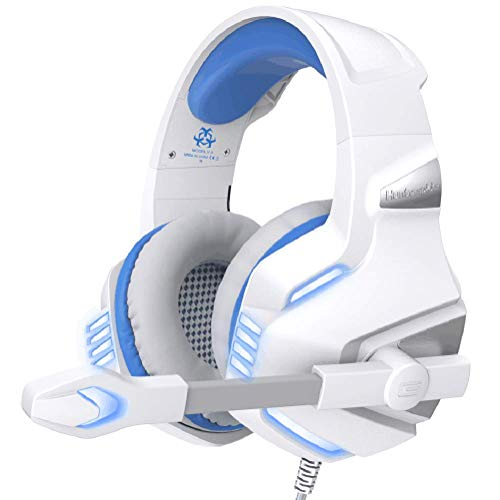 Geagodelia LED Kopfhörer mit Mikrofon für PC Mac PS4 Gaming Headset Xbox One Hunterspider V3 3,5mm