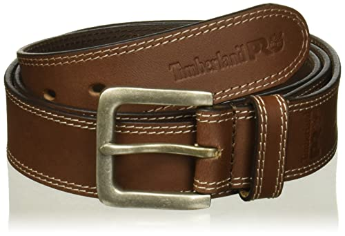 Timberland PRO Men's 38mm Boot Leather Belt, Brown, 42