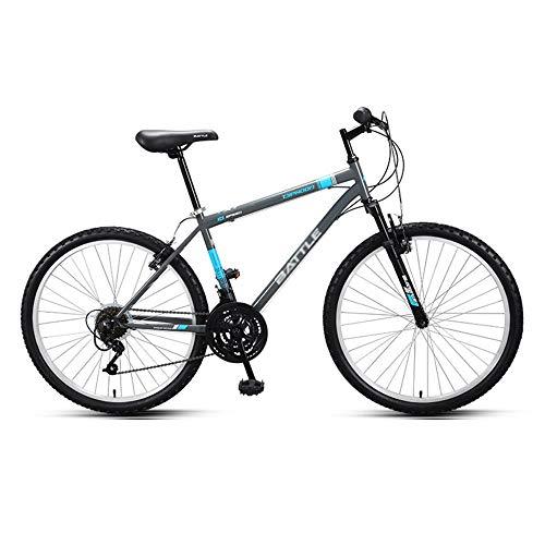 Bicicletas de Montaña, Bicicletas de Carretera, NeumáTicos Silenciosos de 26 Pulgadas, Cuadro de Acero con Alto Contenido de Carbono Ajustable de 18 Velocidades, Disponible Tanto para Hombres Com
