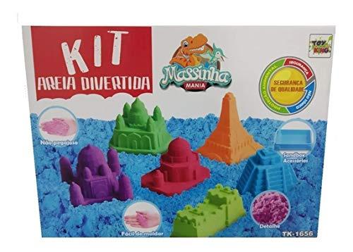 Kit Areia Mágica Divertida Areia De Modelar Cinética 900g Areia Divertida King Massinha Mania Não Tóxica