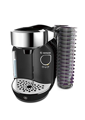 Bosch TAS7002 Tassimo Caddy Multi-Getränke-Automat, 1300 W, große Getränkevielfalt, Kapselhalter, 1,2 l Wassertank, mystical schwarz