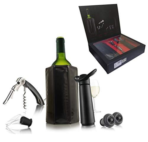 Vacu Vin Profi Basis Weinset Weinzubehör, Kunststoff, schwarz, normal