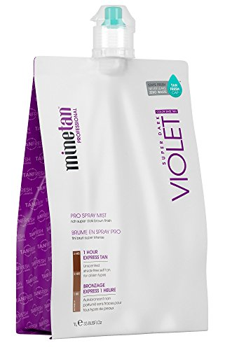 MineTan Pro Spray Mist, Violet, 33.8 Fluid Ounce