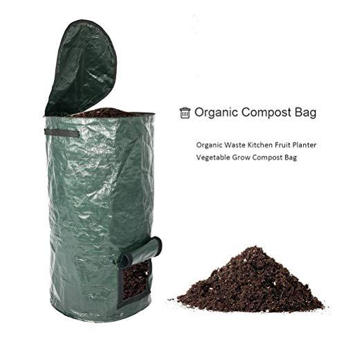 FuYouTa Gartentasche Blattsammlungstasche Home Depot Taschen Rasen- Und Blattsäcke Rasen- Und Müllsäcke Pe Kompostbeutel Umwelt Bio Kompost Beutel Bio Abfallbeutel 45 * 80Cm