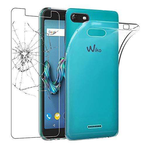 ebestStar - kompatibel mit Wiko Tommy 3 Hülle Handyhülle [Ultra Dünn], Premium Durchsichtige Klar TPU Schutzhülle, Soft Flex Silikon, Transparent +Panzerglas Schutzfolie [Phone: 149x71.8x9.3mm 5.0