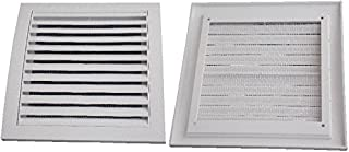 Air Ventilation Plastic Grill Cover 190mm x 190mm/White