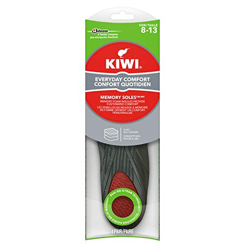 KIWI Shoe Insoles and Inserts forAll Day Support, Performance Foam Absorbs Shock for Ultimate Comfort , Memory , Men 8-13