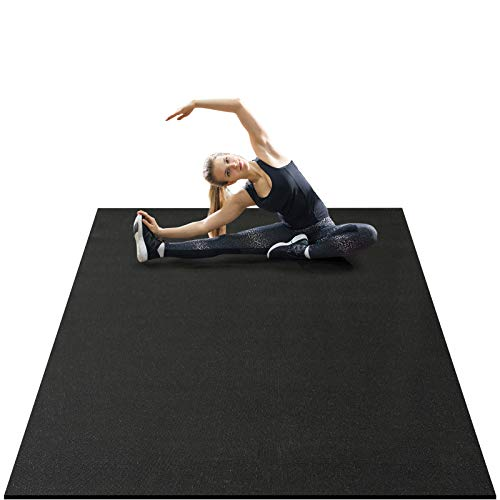 of exercise mats AROGAN Large Exercise Mat 6x4 Feet, 7mm Thick Premium Non Slip Workout Mats for Home Gym Flooring, Durable Cardio Mat for Jump, Plyo, Fitness, Stretch, Shoe Friendly