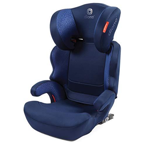 Diono Everett NXT, fester verlängerbarer Sitz mit hoher Rückenlehne, einstellbare Kopfstütze mit 7 Positionen, Gruppe 2/3 (15–36 kg und bis zu 160 cm Körpergröße), 4–12 Jahre, Blau