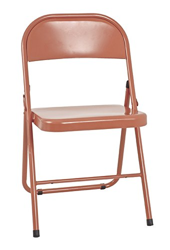 PEGANE Chaise Pliante en métal Bordeaux Corail, L47 x H78 x P46 cm