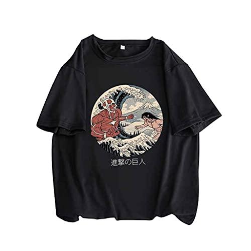 KIACIYA Maglietta Attack on Titan, 3D Shingeki No Kyojin Scout Regiment Levi·Ackerman Anime Cosplay T Shirt Moda Casual Manica Corta Tee Maglia Shirt Camicia Camicetta Tops per Donna Uomo (4B,L)