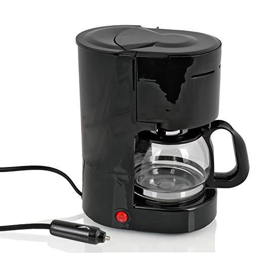 Ha ba Kaffeemaschine 12 Volt, 170W, 600ml, 6 Tassen schwarz für Camping, Auto, Boot