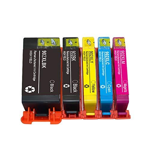 YQDZ Reemplazo De Cartuchos De Tinta Compatibles Adecuado para HP902XL, para HP Officejet Pro 6954 Impresoras De Inyección De Tinta Todo En Uno Combo Pack