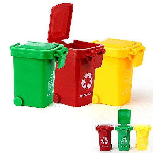 AITING Kids Push Toy Vehicles Garbage Trucks Trash Cans
