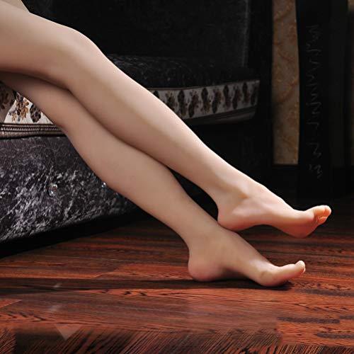 Realistische Silikon Frauen Bein Fuß Modell - Fetische Puppen Weibliche Schaufensterpuppe Fuß Pediküre Training Füße Modell Schuh Socken Sandalen Display