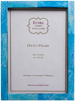 Turquoise Holds a 5 x 7-Inch Photo Eccolo World Traveler Frame