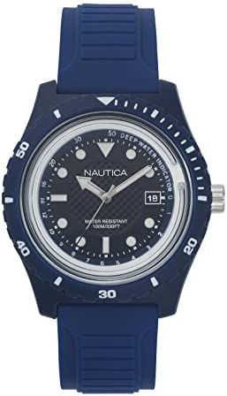 Nautica Men s Ibiza Quartz Sport Watch with Silicone Strap Blue 22 Model NAPIBZ005 product image
