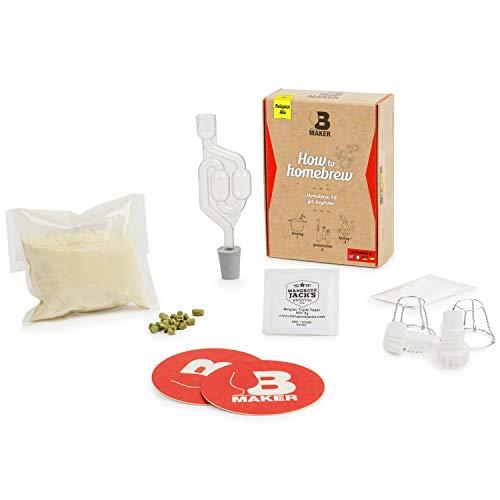 B Maker • Kit Birra • Idea Regalo Uomo Donna • Speciale PRINCIPIANTE 1H30 di Preparazione • Kit Produzione Birra Fai da Te • Fabbricare la Propria Birra Facilmente a Casa • Birra Belga • 1.5 Litri