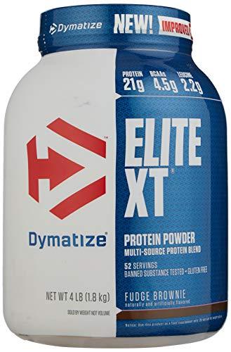Dymatize Nutrition Elite XT Supplement, Fudge Brownie, 4 lbs