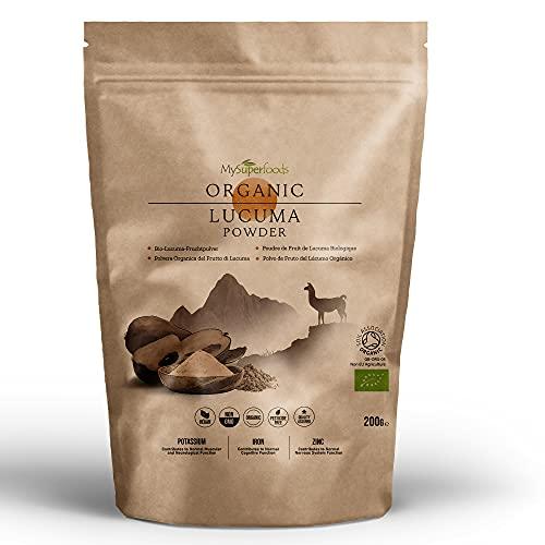 MySuperFoods Organisches Lucuma Pulver 200g, Natürliche Quelle für Antioxidantien