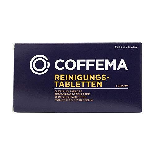 Coffema Reinigungstabletten (1 g) - für die professionelle Reinigung von Kaffeemaschinen und Kaffeevollautomaten - entfettet und reinigt - 1 x 30 Tabs