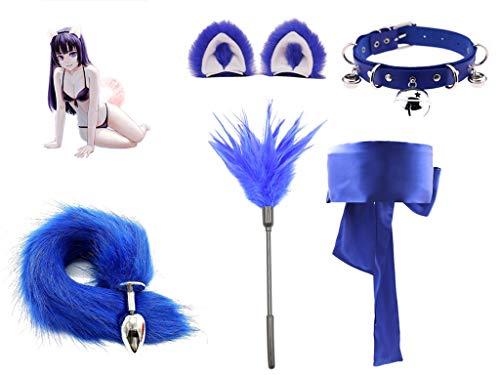 Forocean ✦ Fox Tail Toys Doux Lisse En Acier Inoxydable Queue P1ug Cosplay Costume Accessoire Ensemble