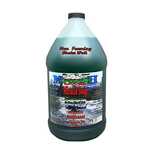 Miracle II Non-Foaming Soap Concentrated Detergent for Dishes, Windows, Floor without Suds - 1 Gallon