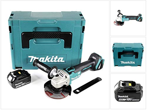 Makita DGA 504 M1J Akku Winkelschleifer 18V 125mm Brushless + 1x Akku 4,0Ah + Makpac - ohne Ladegerät