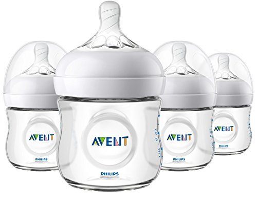Philips Avent Natural Baby Bottle, Clear, 4 Oz, 4pk, SCF010/47