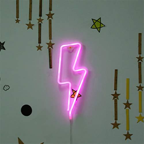 Neonzeichen, batteriebetriebene oder USB-angetriebene LED-Neonlicht für Party, Dekoration Lampe, Tisch- und Wanddekorationslicht, Kindergeschenk (Color : C)