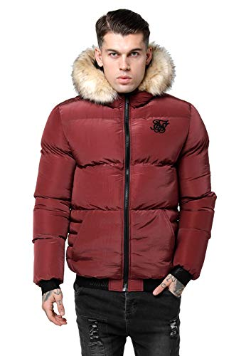 Sik Silk - SS -15030 Distance Jacket Burgundy -Chaqueta Hombre (M)