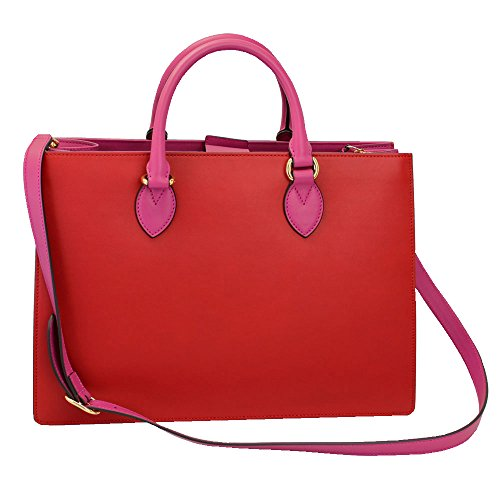 "Size: 15.4""x 11""x 5.3"", 39cmx 28cmx 13.5cm Color: Red/ Pink Material: Leather Inside: zip compartment x 1, zip pocket x 1, slim flat pocket x 2 Includes: shoulder strap, dust bag"