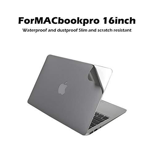 EASYCOB wasserdicht und staubdicht schlanke und Kratzfeste Laptop-Schutzfolie kompatibel mit MacBook Pro 16 Zoll grau