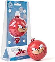 Numskull Bauble Heads Official Sonic The Hedgehog Knuckles Christmas Tree Decoration Ornament - Red Tin Metal Christmas Ba...