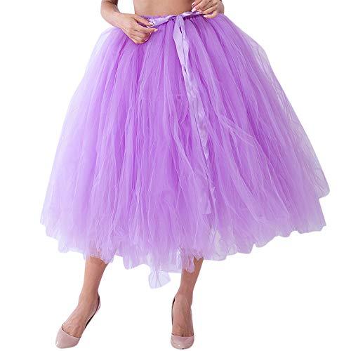 Kapian Damen Vintage Petticoat Reifröcke Tüll Unterröcke für Rockabilly Kleid Faltenrock Tüllrock Damenrock Tutu Petticoat Prinzessin Ballkleid Reifröcke Tanzkleid Abendkleid Partykleid Tütü Karneval